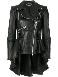байкерская куртка с баской Alexander McQueen