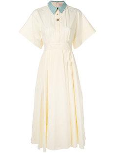 приталенное расклешенное платье Pinara Roksanda