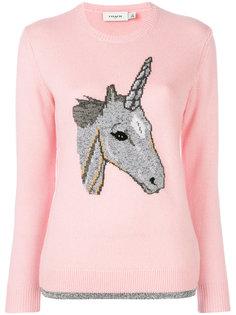 свитер с единорогом Coach