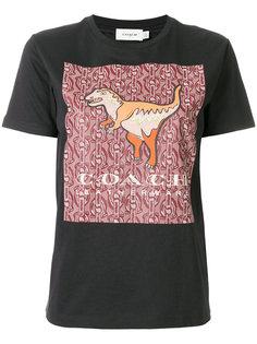 футболка с динозавром Coach