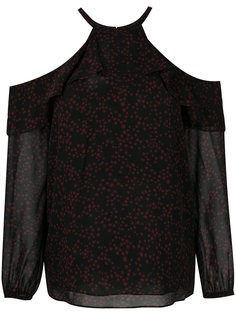 блузка с оборками и принтом звезд Michael Michael Kors