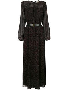 платье с принтом звезд и длинными рукавами Michael Michael Kors