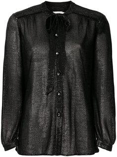 блузка с завязками на шее Coach