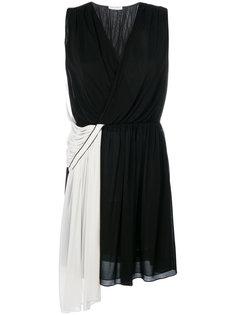 двухцветное асимметричное платье  Vionnet