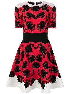 короткое платье с цветочным принтом Alexander McQueen