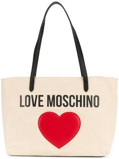 сумка-тоут с аппликацией сердца Love Moschino
