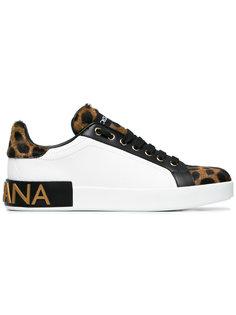леопардовые кроссовки Dolce & Gabbana