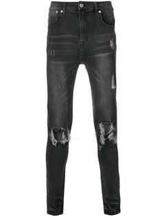 джинсы скинни с рваными деталями Stampd