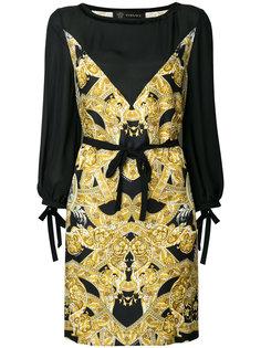платье с принтом Барокко Versace