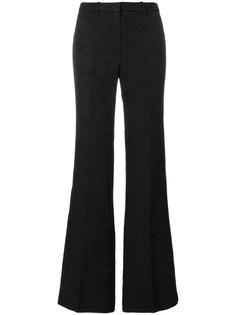 расклешенные жаккардовые брюки Theory