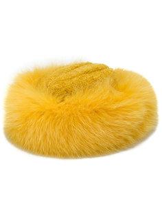 шапка с отделкой из лисьего меха Borsalino