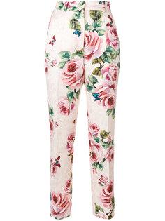 брюки с розами Dolce & Gabbana