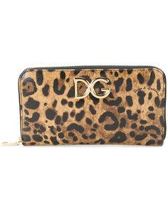 леопардовый кошелек Dolce & Gabbana