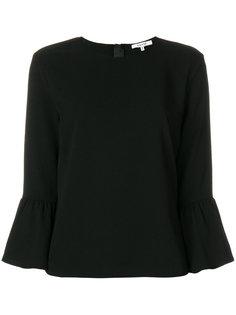 блузка с баской Ganni