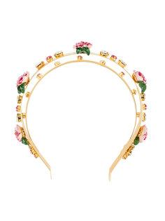 ободок для волос с цветочными деталями Dolce & Gabbana