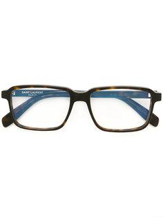 очки в прямоугольной оправе Saint Laurent Eyewear