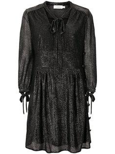 платье с завяззками на горловине  Coach