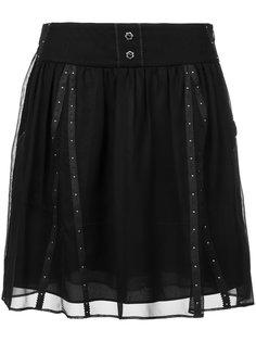 многослойная юбка с кружевной отделкой Coach