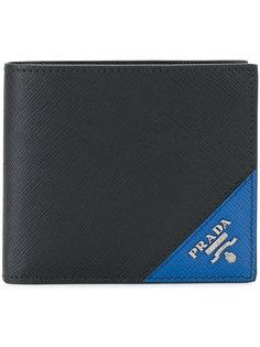 бумажник с контрастным уголком Prada