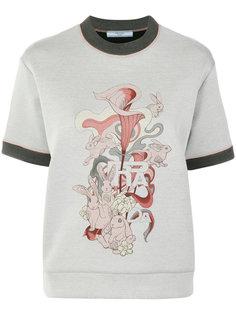 футболка с принтом кролика Prada