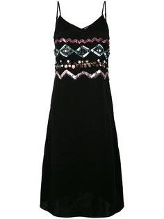 платье на бретелях декорированное пайетками Coach