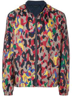 куртка с леопардовым принтом Versace