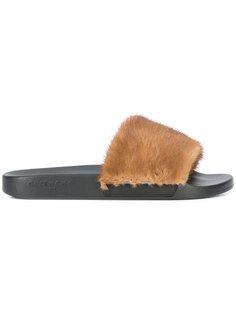 сандалии с отделкой из кроличьего меха Givenchy