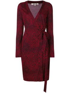 платье с запахом и узором в горох Dvf Diane Von Furstenberg