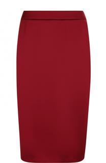 7ec641627cdc Однотонная юбка-миди с разрезом Escada бордовые