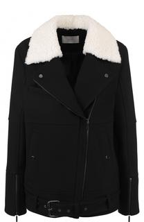 Куртка прямого кроя с косой молнией BOSS