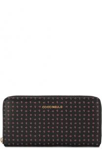 Кожаный кошелек на молнии с принтом Coccinelle