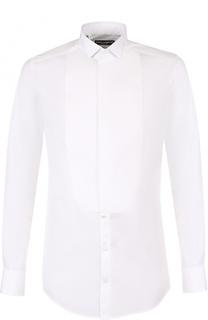 Хлопковая сорочка с воротником бабочка Dolce & Gabbana
