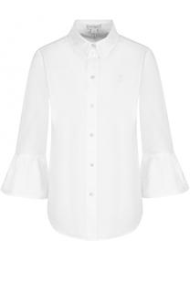 Хлопковая блуза с укороченными расклешенными рукавами Marc Jacobs