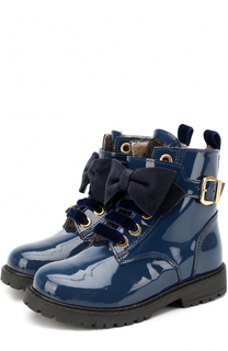 Лаковые ботинки с бантом Monnalisa