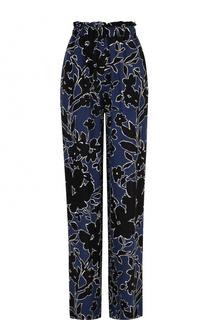 Шелковые брюки с принтом и эластичным поясом Michael Kors