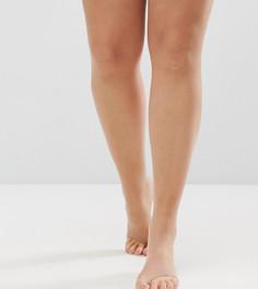 Колготки телесного цвета плотностью 8 ден с открытым носком под босоножки ASOS CURVE - Бежевый