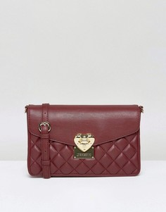 Стеганая сумка на плечо Love Moschino - Красный
