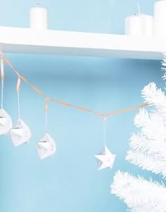 Новогодний адвент-календарь с пронумерованными звездами Meri Meri - Мульти