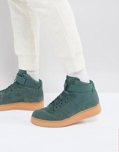 Зеленые высокие кроссовки Nike Air Force 1 07 LV8 AA1118-300 - Зеленый
