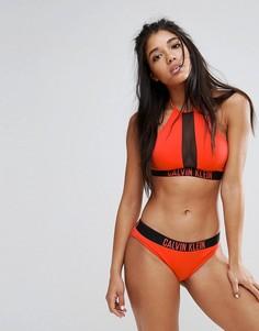 Бикини-топ с американской проймой Calvin Klein - Оранжевый