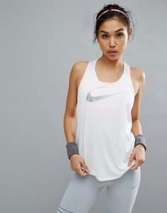 Белый топ Nike Training - Белый