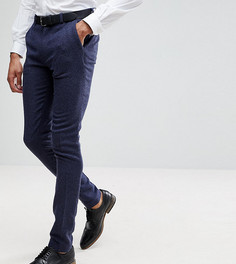 Синие брюки супероблегающего кроя в клеточку ASOS TALL Wedding - Синий