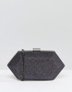 Структурированный клатч с камнями Miss KG - Серый