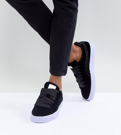 Темно-синие велюровые кроссовки Puma Basket - Темно-синий