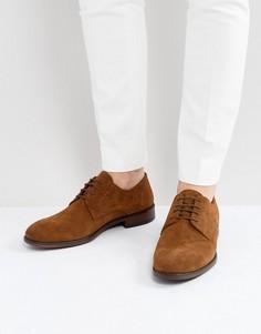 Светло-коричневые замшевые дерби на шнуровке ASOS - Рыжий