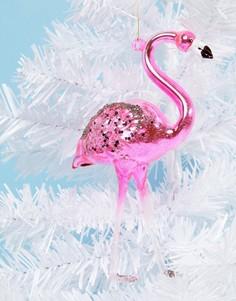 Новогоднее украшение в виде фламинго Sass & Belle - Мульти