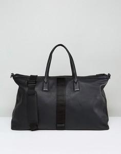 Черная кожаная сумка Paul Costelloe - Черный