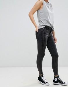 Зауженные джинсы с молнией у щиколотки Only Royal - Черный