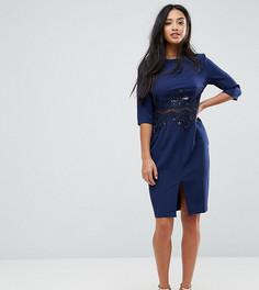 Платье-футляр с пайетками Little Mistress Petite - Темно-синий