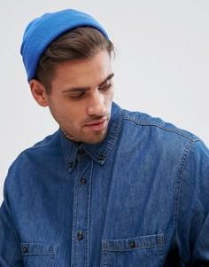 Синяя шапка-бини ASOS - Синий